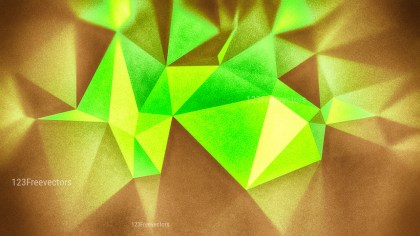 Brown and Green Grunge Polygon Triangle Background
