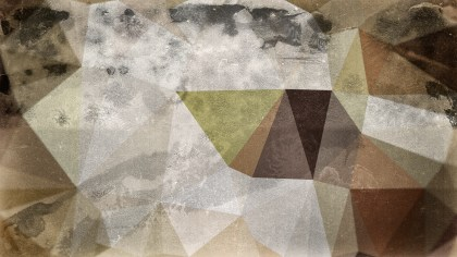 Brown and Grey Grunge Polygon Pattern Background Image