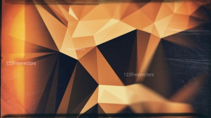 Brown Orange and Black Grunge Polygon Pattern Abstract Background Graphic