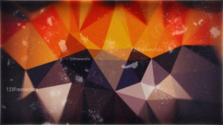 Brown Red and Orange Polygonal Triangular Background