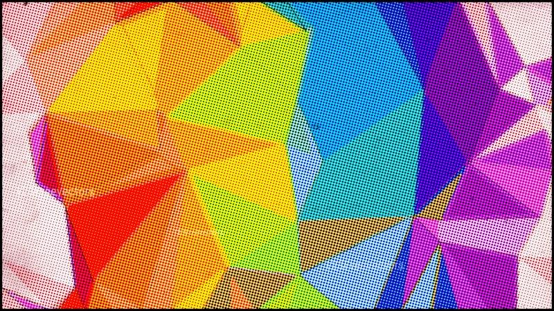 Colorful Grunge Polygon Background Design