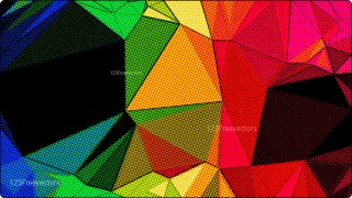 Colorful Grunge Polygon Pattern Background Image