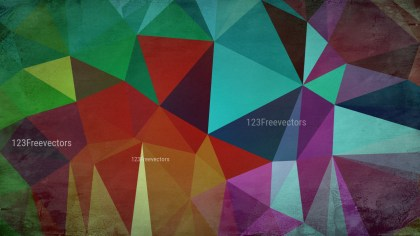 Colorful Grunge Polygon Background