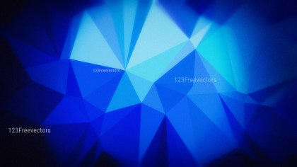 Cool Blue Grunge Polygon Pattern Abstract Background Design