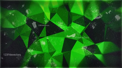 Cool Green Grunge Polygon Background