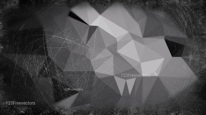 Cool Grey Grunge Polygon Triangle Background