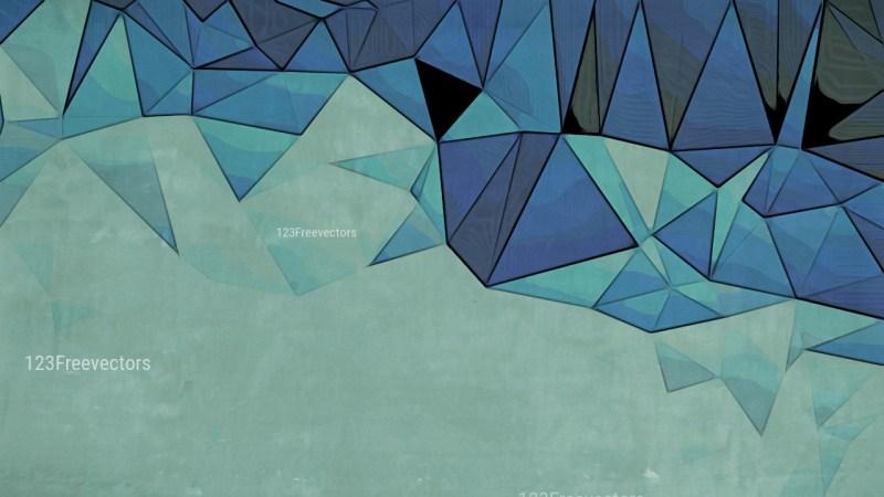 Dark Blue Grunge Polygonal Background