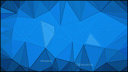Dark Blue Grunge Polygon Triangle Background