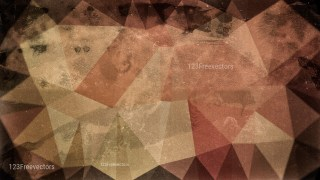 Dark Brown Distressed Polygon Pattern Background