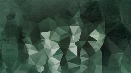 Dark Green Grunge Polygonal Background Image