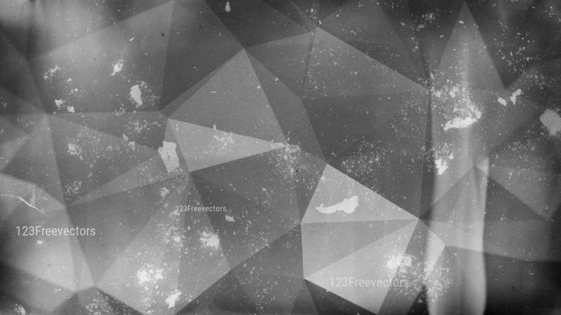 Dark Grey Distressed Polygon Pattern Background