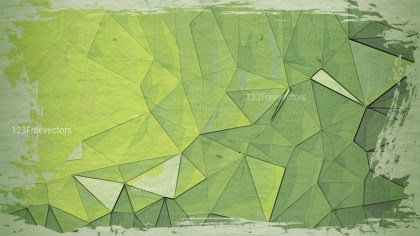 Green and Beige Grunge Polygon Pattern Background