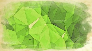 Green and Beige Distressed Polygonal Background