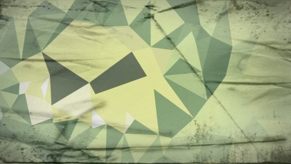 Green and Beige Grunge Polygon Pattern Abstract Background Image