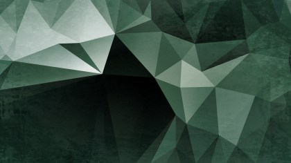 Green and Black Grunge Low Poly Background Image