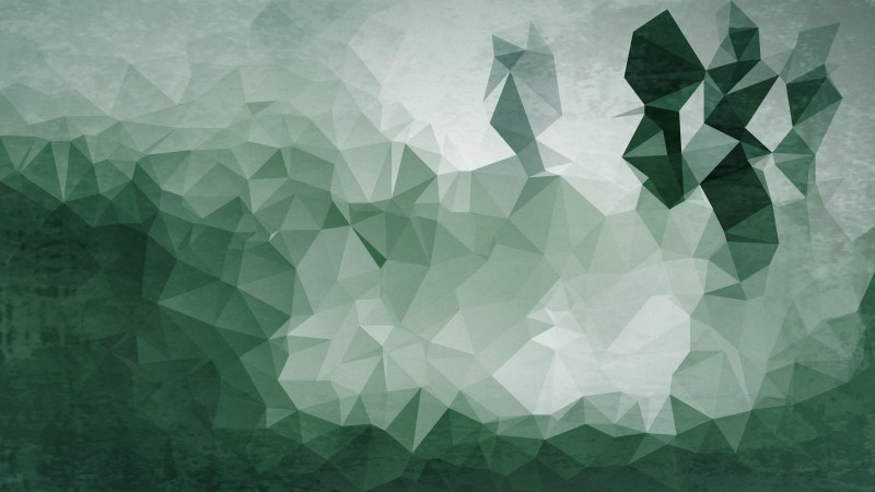 Green and Grey Grunge Polygonal Background