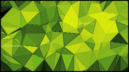 Green and Yellow Grunge Polygon Triangle Background Image