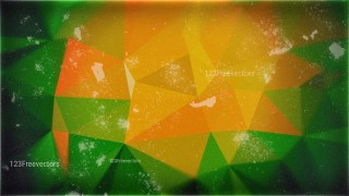 Green Orange and Black Grunge Polygon Background Image