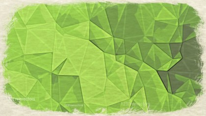 Lime Green Distressed Low Poly Background
