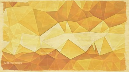 Orange and Beige Grunge Polygon Background