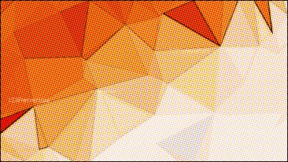 Orange and White Grunge Polygonal Background Design