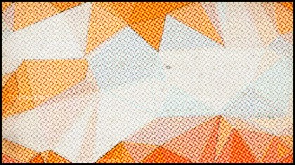 Orange and White Distressed Polygon Background Image
