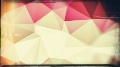 Pink and Beige Grunge Polygon Pattern Abstract Background