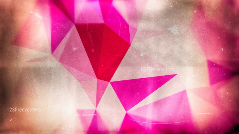 Pink and Brown Distressed Polygon Triangle Background Image