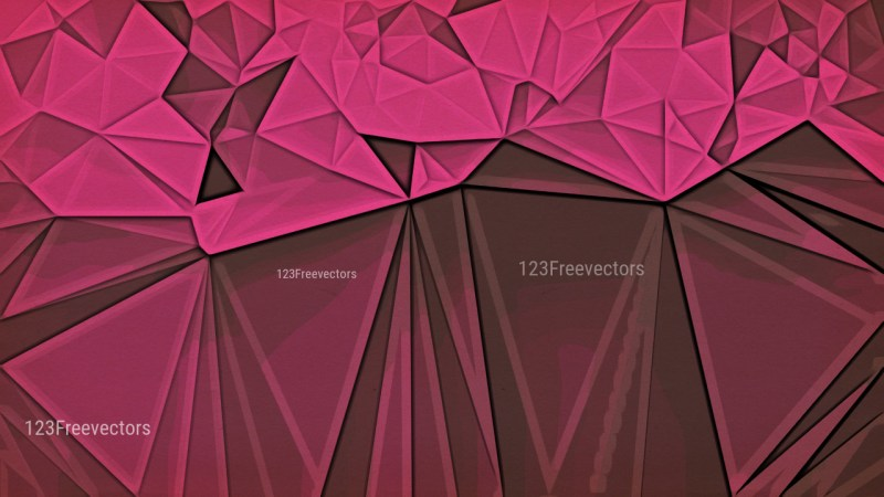 Pink and Brown Grunge Low Poly Background
