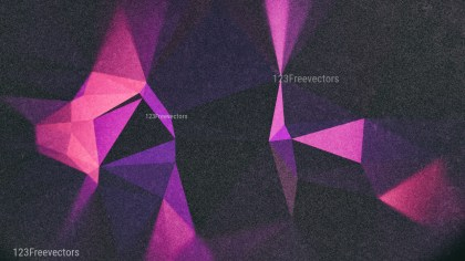 Purple and Black Grunge Polygonal Triangle Background Design