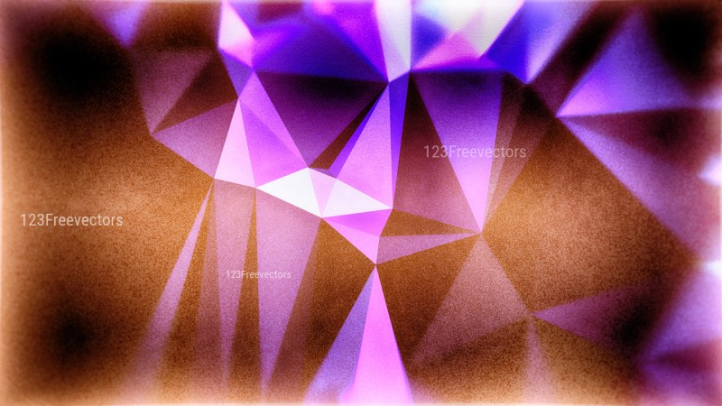 Purple Brown and Blue Grunge Polygonal Background