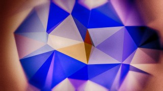 Purple Brown and Blue Distressed Polygonal Background