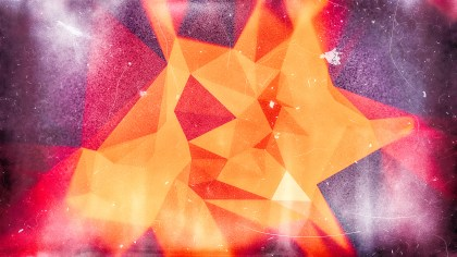 Purple Red and Orange Grunge Polygonal Background
