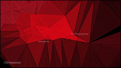 Red and Black Grunge Polygon Pattern Background
