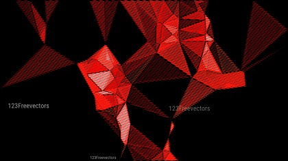 Red and Black Grunge Low Poly Background Graphic