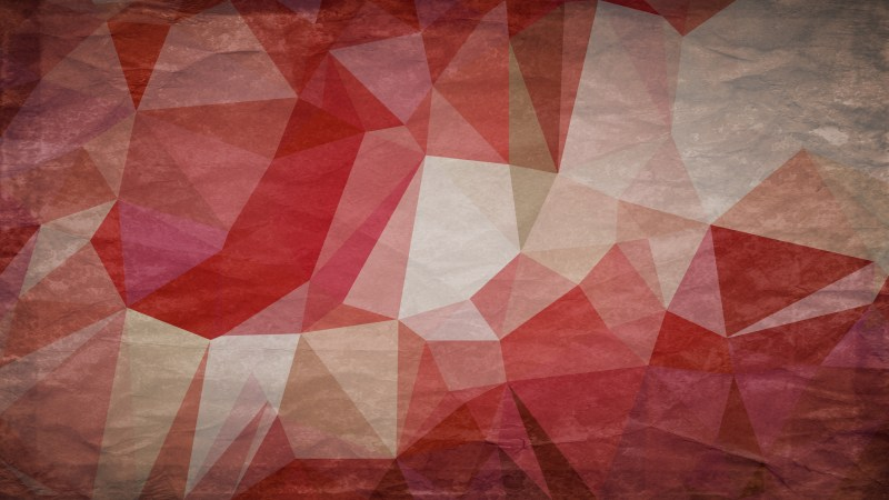 Red and Brown Distressed Polygon Pattern Background Image