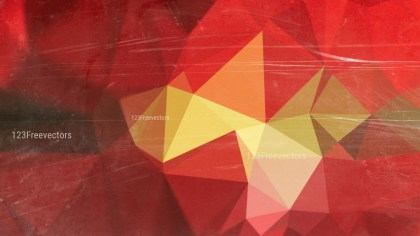 Red and Gold Grunge Polygon Background