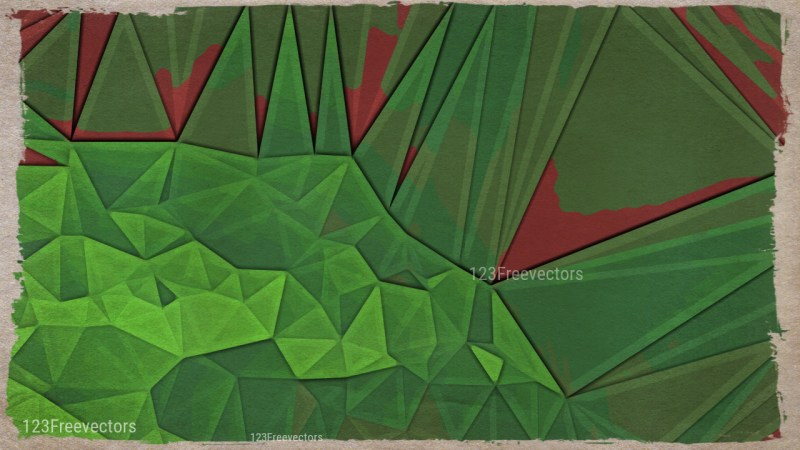 Red and Green Distressed Polygon Pattern Background