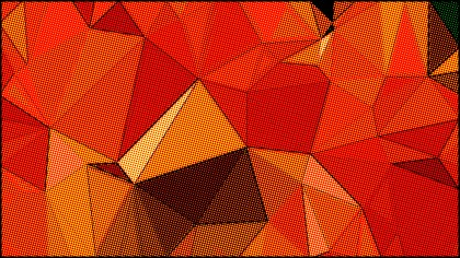 Red and Orange Distressed Polygon Triangle Background
