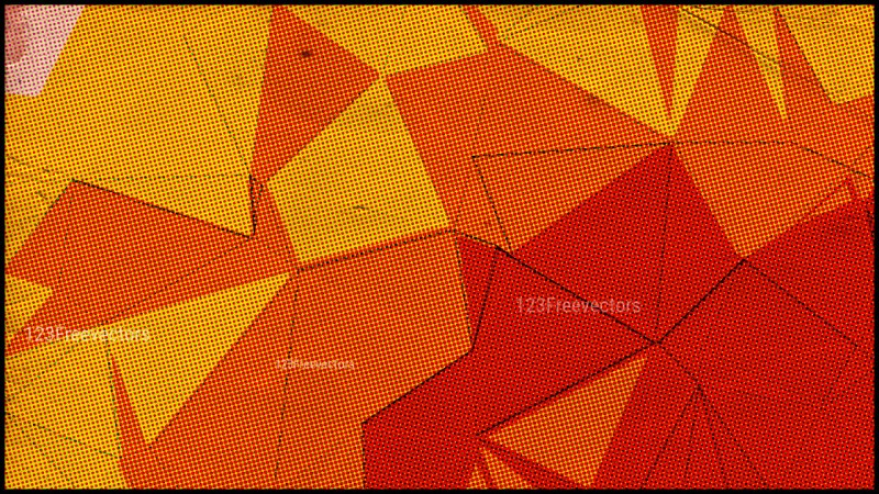 Red and Orange Grunge Polygon Background