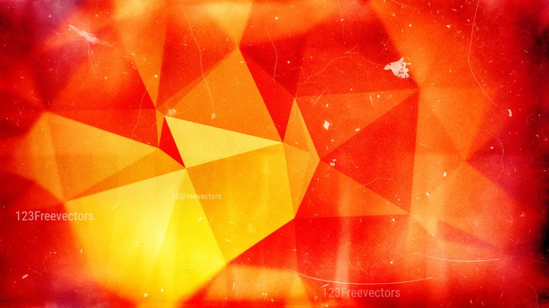 Red and Yellow Distressed Polygonal Background