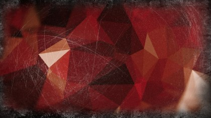 Red Brown and Black Grunge Polygon Triangle Background