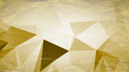 White and Gold Distressed Polygon Pattern Background