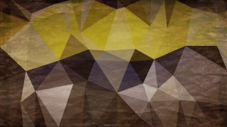 Yellow and Brown Grunge Polygonal Triangle Background