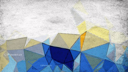 Yellow Grey and Blue Grunge Polygon Abstract Background Image