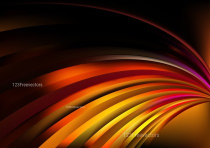 Abstract Black Red and Orange Shiny Curved Stripes Background Image