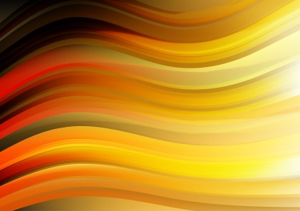 Abstract Black Red and Yellow Wavy Background Vector
