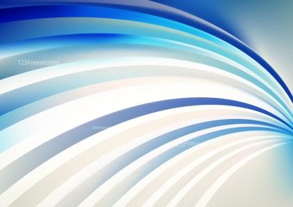Blue and Beige Curved Stripes Background Vector Illustration