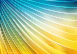 Abstract Blue and Orange Curved Stripes Background