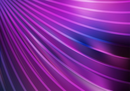 Abstract Blue and Purple Curved Stripes Background Vector Image